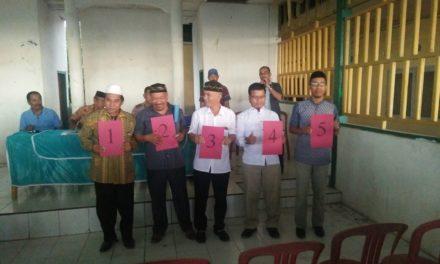 5 Calon Kepala Desa Babana Lolos Pencabutan No. Urut