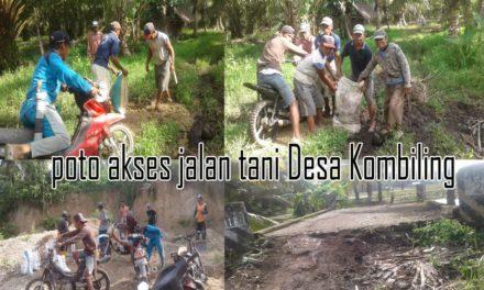 Jalan Tani Di Dusun Tambarejo Desa Kombiling Rusak Parah