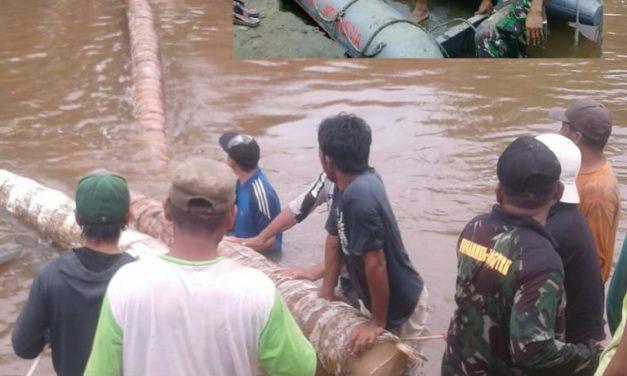 Jembatan Penghubung Desa Kombiling, Pangale Roboh
