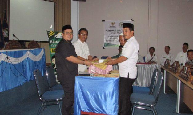 Anggota DPRD Mateng serahkan Zakat profesi dan Maal kepada Baznas