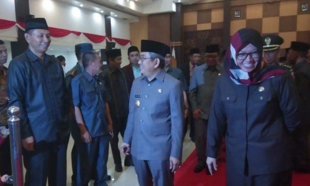 Gubernur Hadiri Paripurna Penyampaian Rekomendasi DPRD Sulbar Terhadap LKPj Tahun 2018