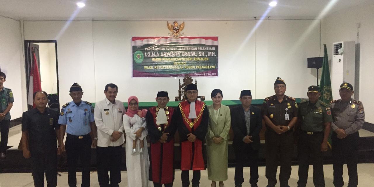 Wakapolres Mamuju Utara Hadiri Pelepasan Ketua & Sertijab Wakil PN Pasangkayu yang Baru